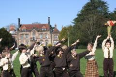 Carrying the torch at Pownall Hall