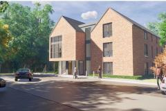 Revised plans for new residential development at former care home