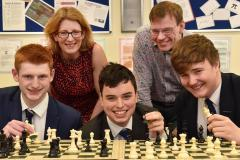 King's moves to checkmate opposition in national chess finals