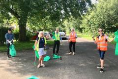 Councillors lead litter picking session