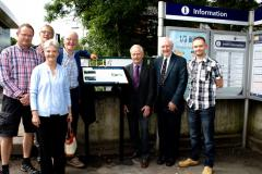 Trainspotter returns to Handforth Station after 65 years
