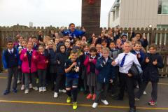 School children get moving to run over 18,000 km