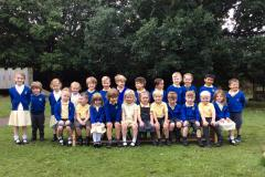 Reception children welcomed to school for the first time