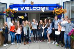 Students at Wilmslow High celebrate GCSE success
