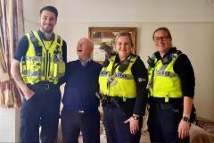 Officers save life of Wilmslow pensioner following an abandoned 999 call