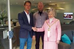 Mayor opens new furniture showroom