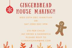 Christmas holidays gingerbread making at Aldeli