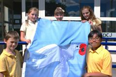Handforth Station flies the flag for WW1 centenary