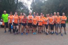 Local running club race to the North Pole