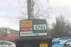 Signs indicate free parking initiative failed