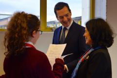 Students show off their language skills to French Ambassador