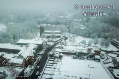 Reader's Photos: Looking down on snowy Wilmslow