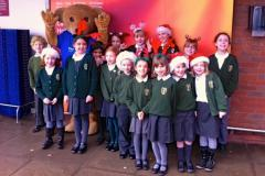 Children sing carols to raise money for The Christie