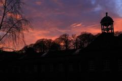 Sunset over Quarry Bank Mill