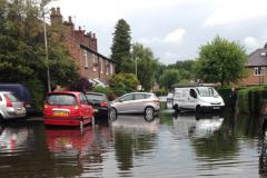 Oak Lane flooded with