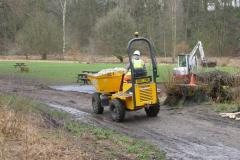 Work begins to create new path through town park