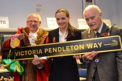 Students pose questions to Victoria Pendleton