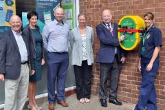 Another public defibrillator unveiled in Wilmslow