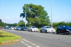 Traffic delays driving motorists round the bend