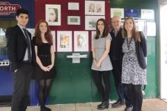 Student's artwork on display at ticket office