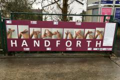 Handforth residents practice their sign language during daily walk