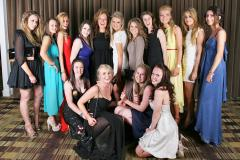 Wilmslow High students having a ball
