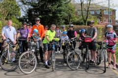 Community groups organise family bike ride