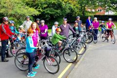 Families come together for bike ride