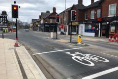 Installation of new traffic lights complete