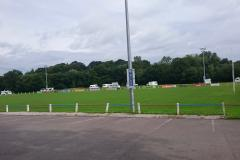 Travellers set up camp at rugby club