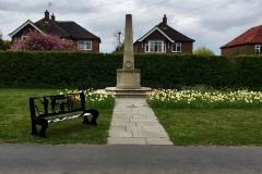 Memorial bench installed to commemorate 75th anniversary of VE Day
