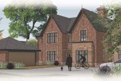Plans for development of five houses on Adlington Road approved
