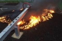 Fire in children's play area thought to be deliberate