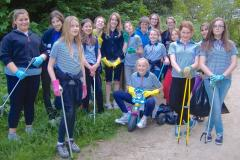 Guides clean up around Lindow Common