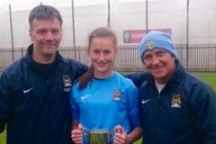 Emily retains her place in Manchester City's Women's squad