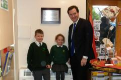 George Osborne officially opens new classroom at Styal Primary