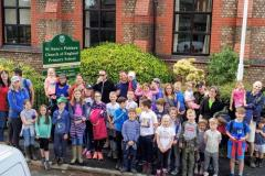 Parents and pupils walk to raise thousands for new play equipment