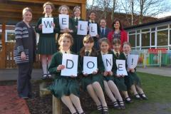 Wilmslow Prep girls celebrate success