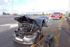 Electrical fault sparks car fire on Handforth bypass