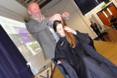 Wilmslow High pupil takes the chop in assembly