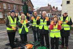 Volunteers working to keep Wilmslow litter free