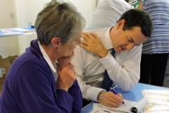 George Osborne supports flu drive for elderly residents