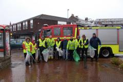 Wilmslow firefighters join volunteers to Clean for The Queen