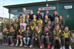 Brownies get green fingers at Handforth Station