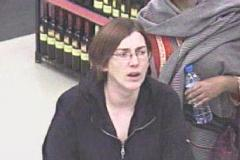 Woman wanted in connection with shoplifting