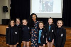 Former pupil Michelle Ackerley joins Alderley girls for inspiring talk