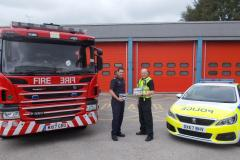 Police and firefighters join forces to tackle concerning rise in deliberate fires