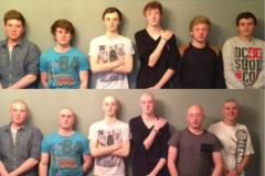 Teenagers support close friend and go bald for charity