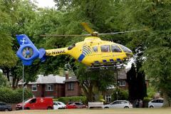 21-year-old airlifted to hospital following industrial accident