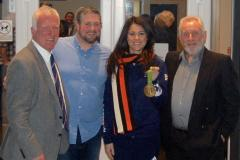 Olympic hero opens extended clubhouse